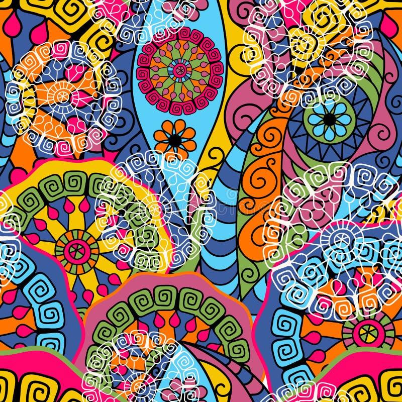 Bezszwowy kolorowy wzór royalty ilustracja
