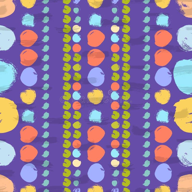 Bezszwowy kolorowy wzór z okręgami royalty ilustracja