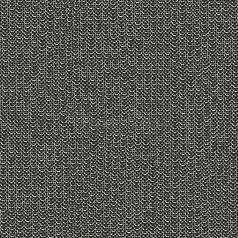 Bezszwowy komputer wytwarzał metal łańcuszkowej poczta teksturę uszkadzającą ilustracja wektor