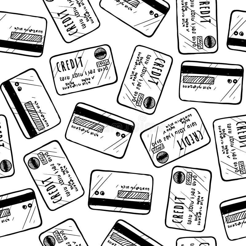 Bezszwowy kredytowej karty tło ilustracja wektor