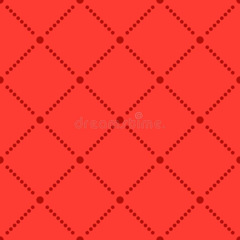 Bezszwowy kwadrata i kropki wzoru tło ilustracja wektor