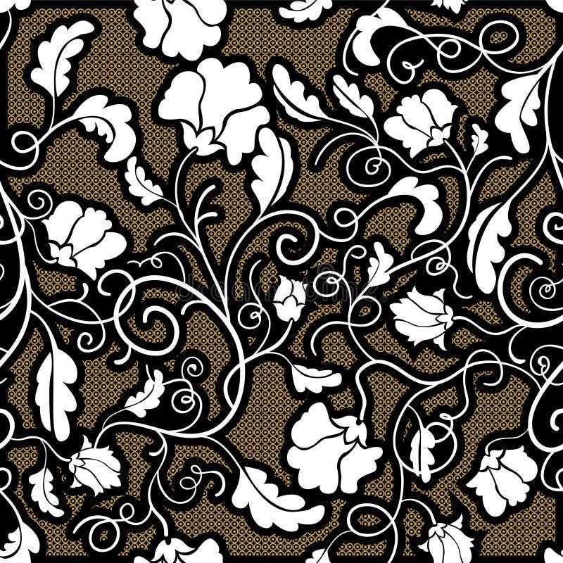 bezszwowy kwiatu biel royalty ilustracja