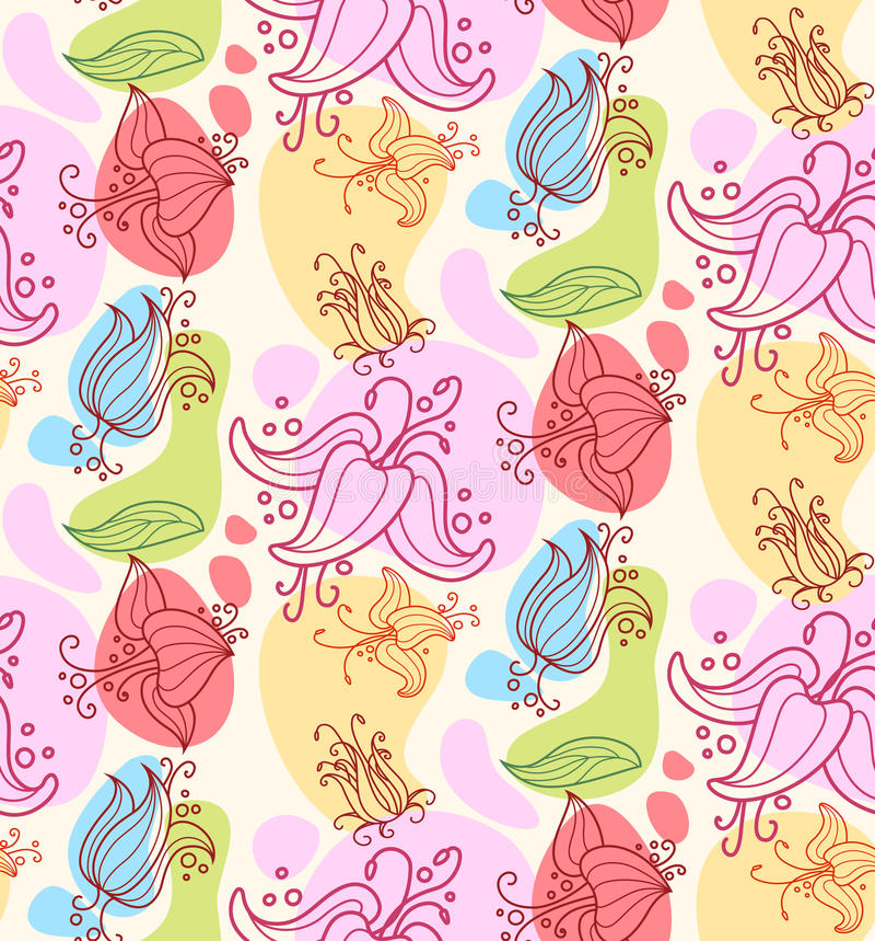 bezszwowy kwiatu ornament ilustracji