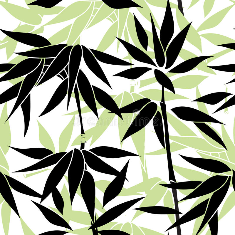 bezszwowy kwiecisty tła Bambo liścia wzór bezszwowy kwiecisty royalty ilustracja