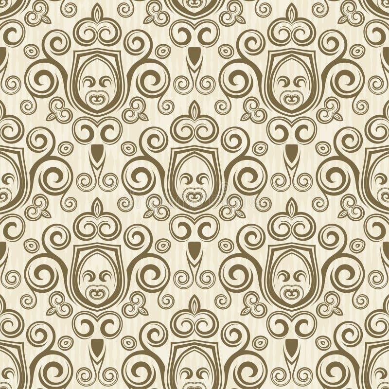 Download Bezszwowy kwiecisty tła ilustracja wektor. Ilustracja złożonej z płytka - 57654013