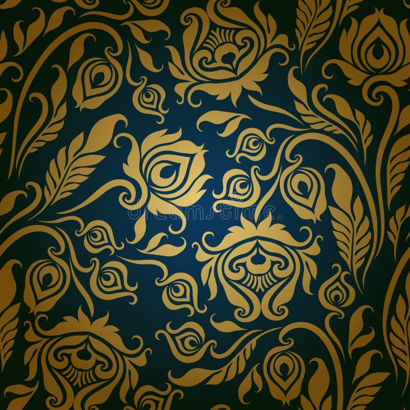 Bezszwowy kwiecisty wzór royalty ilustracja