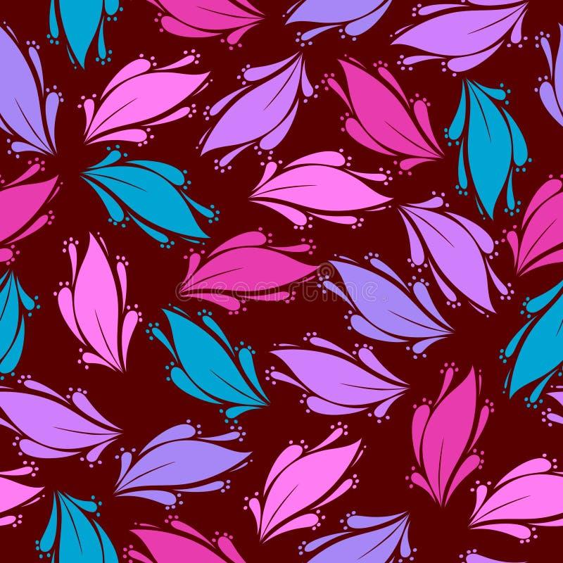 Bezszwowy kwiecisty wzór - ilustracja obrazy royalty free