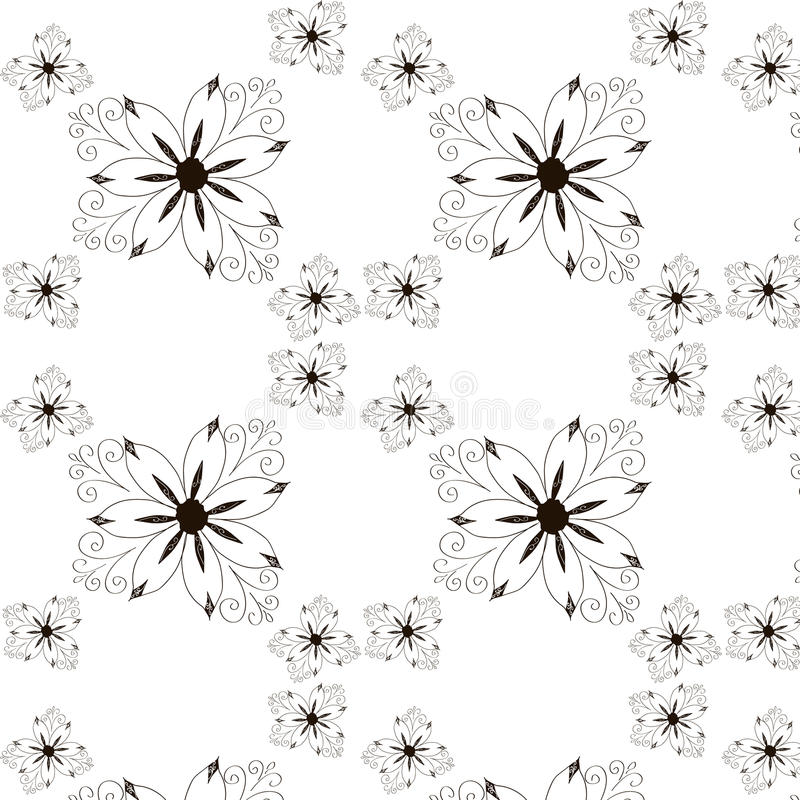 Bezszwowy kwiecisty wzór. Wektorowy rocznik royalty ilustracja