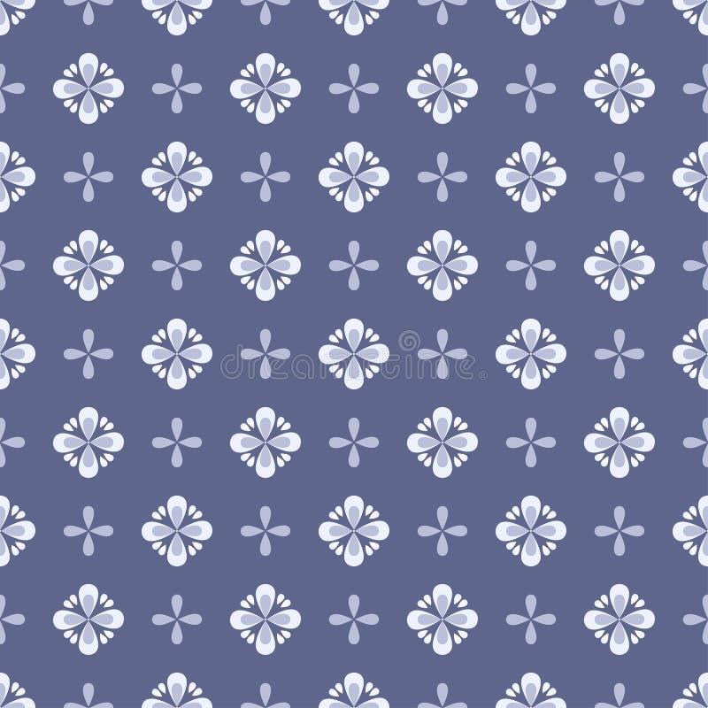 Bezszwowy kwiecisty wzór z geometrycznymi stylizowanymi kwiatami. ilustracji