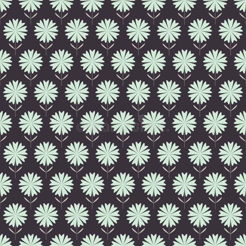 Bezszwowy kwiecisty wzór z ręka rysującymi stylizującymi kwiatami. royalty ilustracja