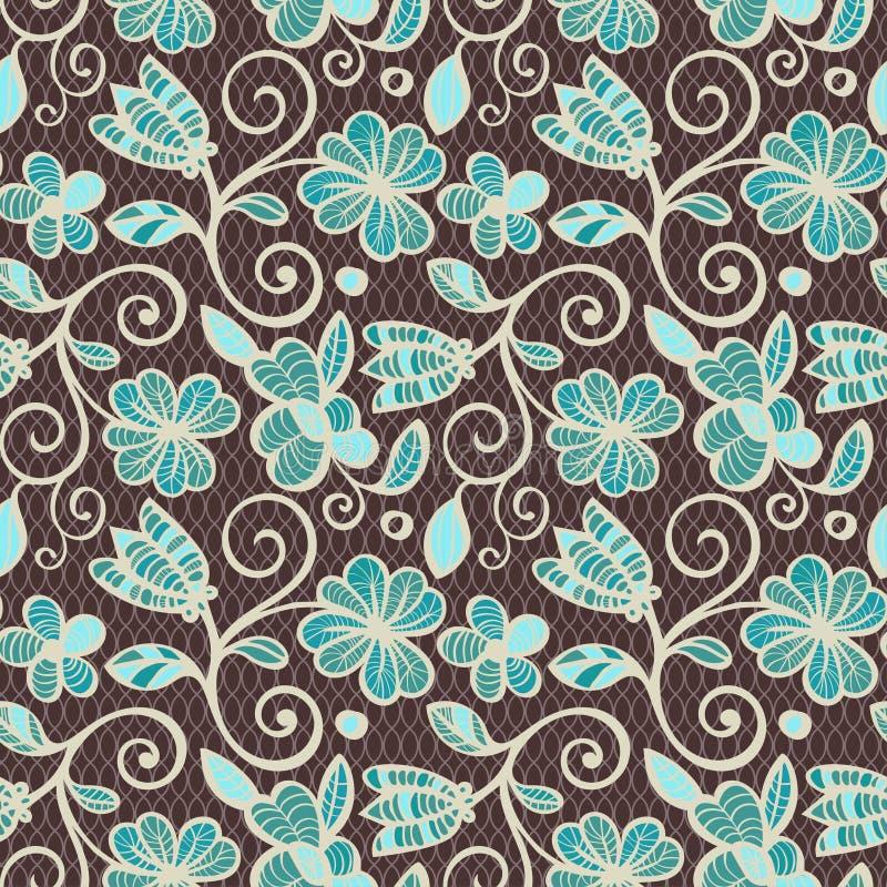 bezszwowy kwiecisty wzoru Kolorowi etniczni mandalas w brown, beżu i błękitów kolorach, Arabeskowy wektorowy ornament ilustracja wektor
