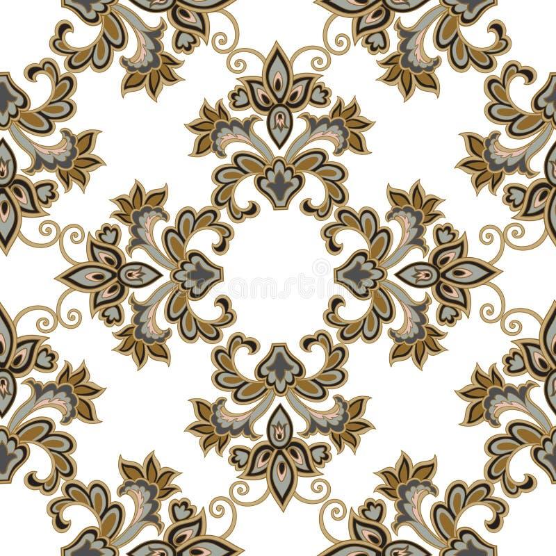 bezszwowy kwiecisty wzoru kwiat światła playnig tło Kwiecisty dachówkowy ornament royalty ilustracja