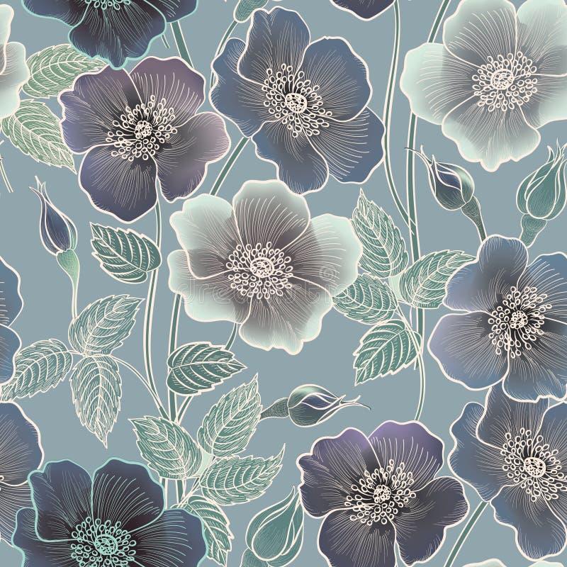 bezszwowy kwiecisty wzoru kwiat światła playnig tło może jest inna kwiecista ilustracji celów używać struktura royalty ilustracja
