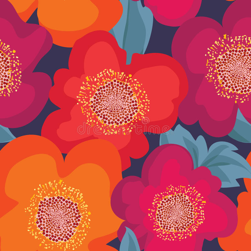 bezszwowy kwiecisty wzoru kwiat światła playnig tło ornament kwiecisty royalty ilustracja