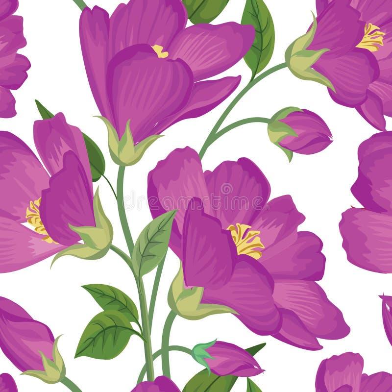 bezszwowy kwiecisty wzoru kwiat światła playnig tło Zawijas tekstura royalty ilustracja