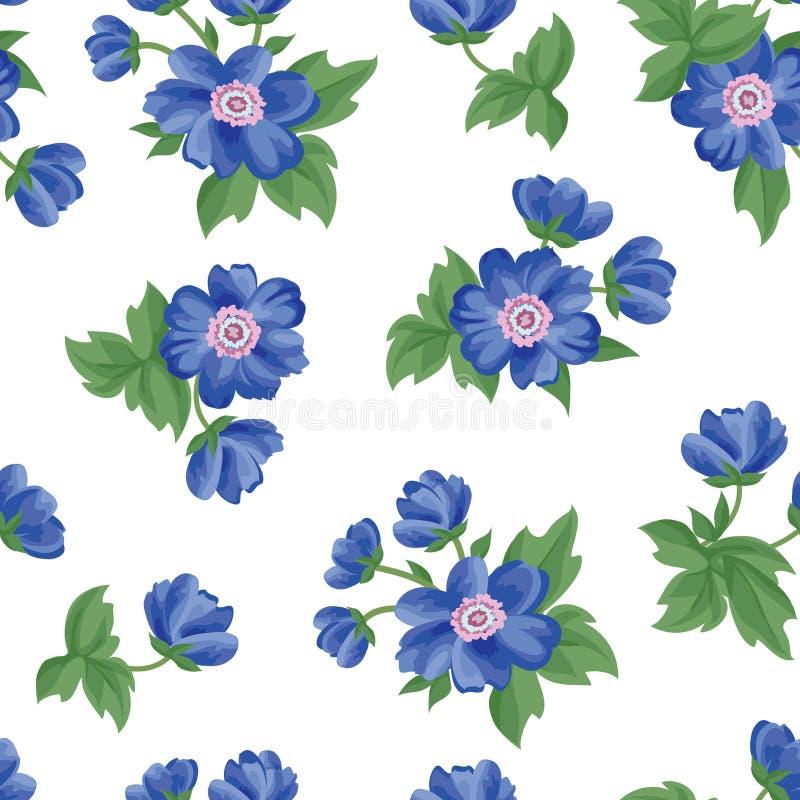 bezszwowy kwiecisty wzoru kwiat światła playnig tło Zawijas tekstura ilustracji