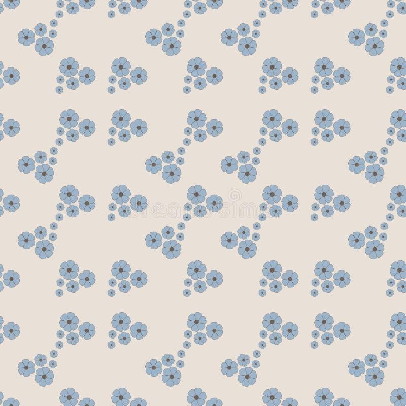 bezszwowy kwiecisty wzoru Mali kwiaty na lekkim tle royalty ilustracja