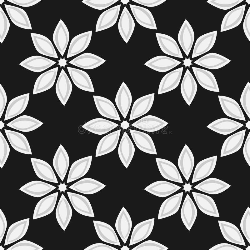 bezszwowy kwiecisty wzoru Prosta tekstura z powtarzać kwiaty royalty ilustracja