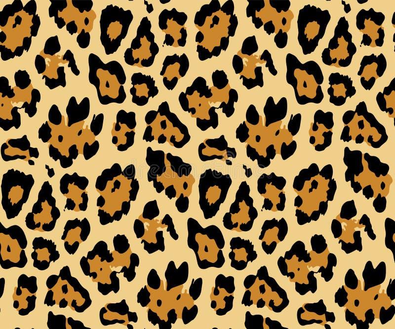 Bezszwowy lampart sk?ry wz?r dla Tekstylnego druku dla drukowanego tkanina projekta dla Womenswear, bielizna, activewear kidswear ilustracji