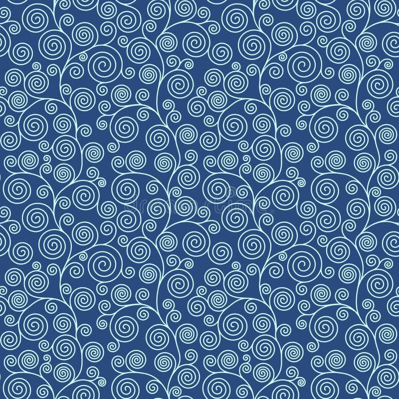 Bezszwowy linia wzór, abstrakcjonistyczny geo tło Klimt rozkwita bezszwowego wzór ilustracji