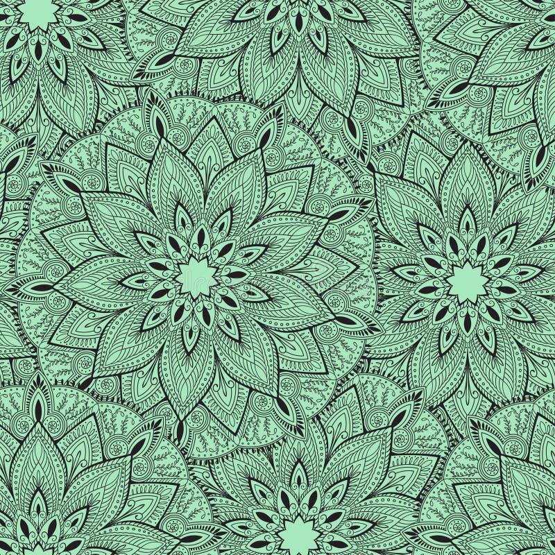 Bezszwowy mandala wzór dla drukować na tkaninie lub papierze sporządzić tła ręka Islam, język arabski, indianin, ottoman motywy ilustracja wektor