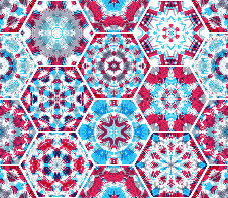 Bezszwowy menchii i błękita tkaniny wzór ilustracja wektor