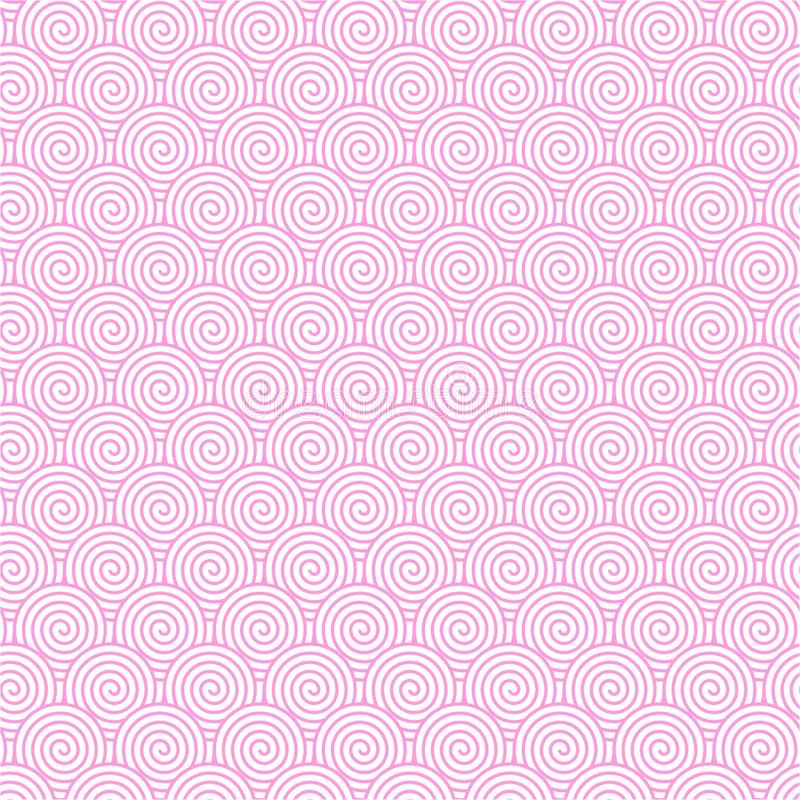Bezszwowy menchii spirali wzór dla Abstrakcjonistycznego tła ilustracji