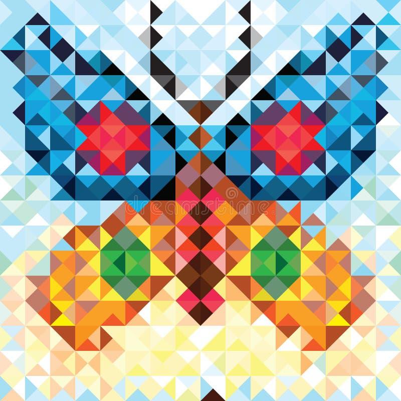 Bezszwowy miłość wzór geometryczny motyl ilustracja wektor