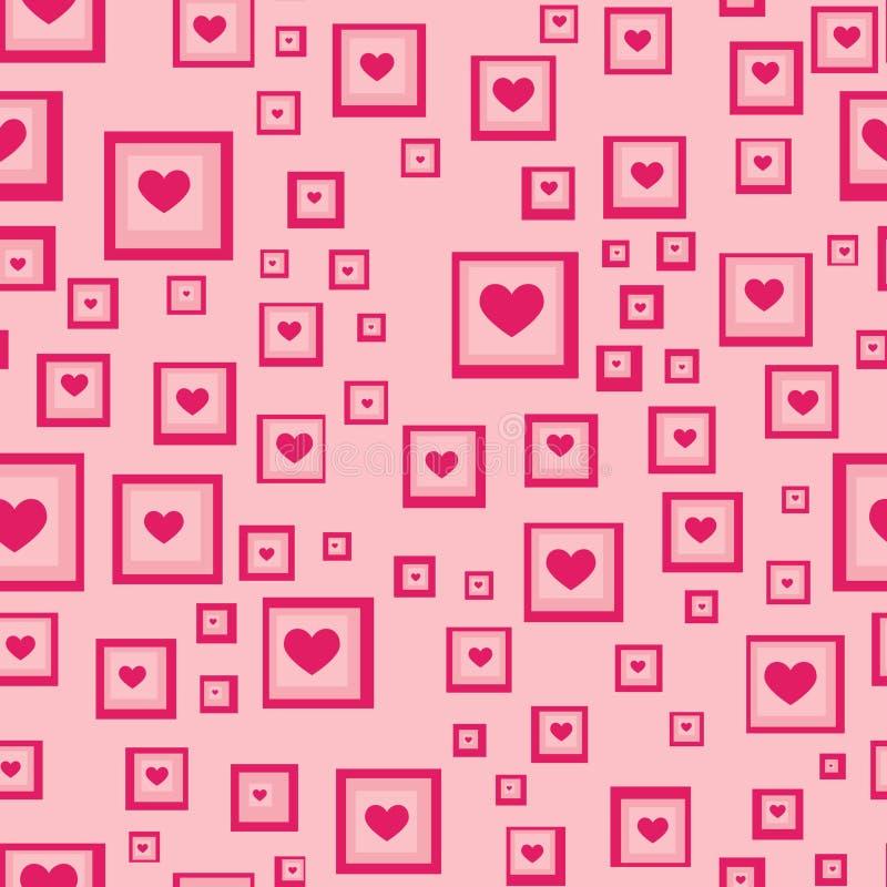 Bezszwowy miłości serca tło ilustracja wektor