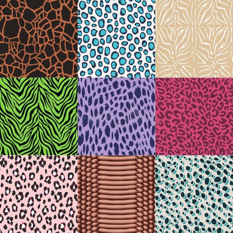 Bezszwowy mody zwierzęcej skóry tekstylny druk ilustracji