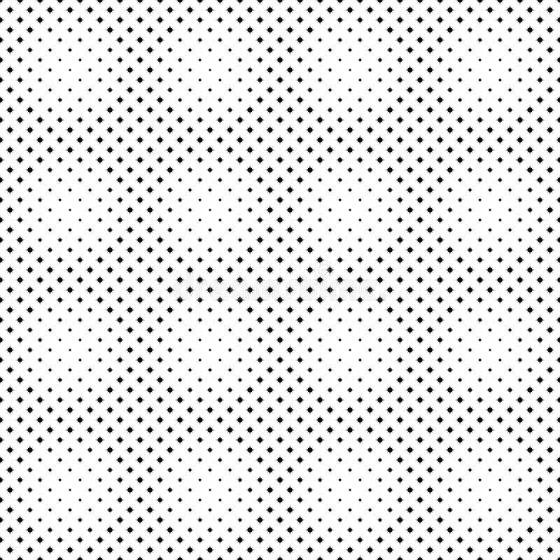 Bezszwowy monochromatyczny abstrakt wyginający się gwiazdowego wzoru tła projekt royalty ilustracja