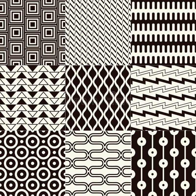 bezszwowy monochromu abstrakcjonistyczny wzór royalty ilustracja