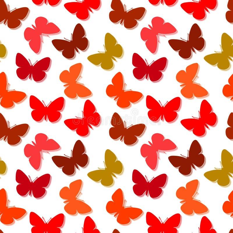 Bezszwowy motyli wzór royalty ilustracja
