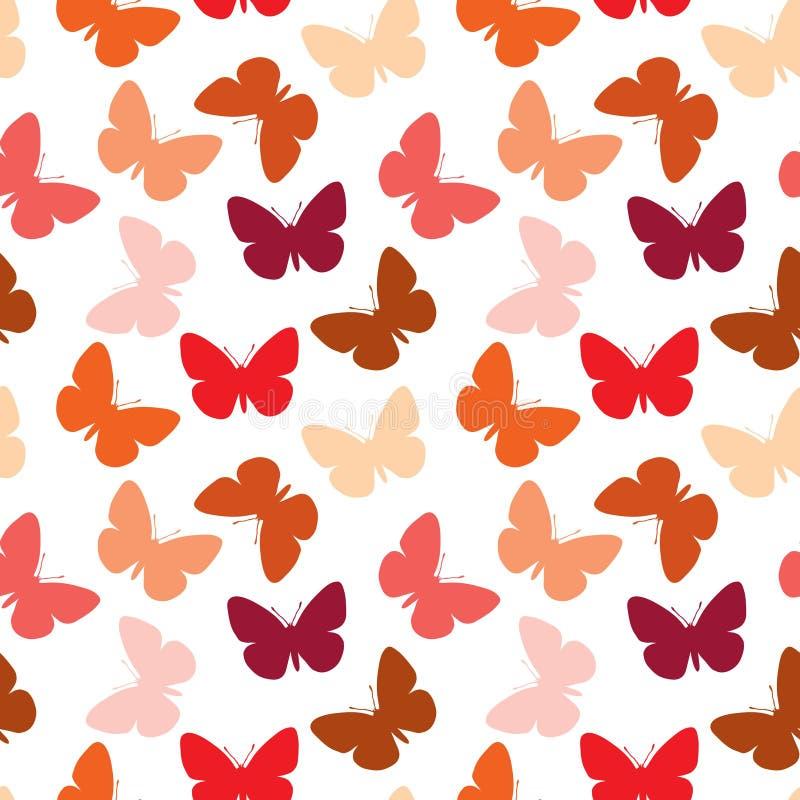 bezszwowy motyli wzór ilustracji