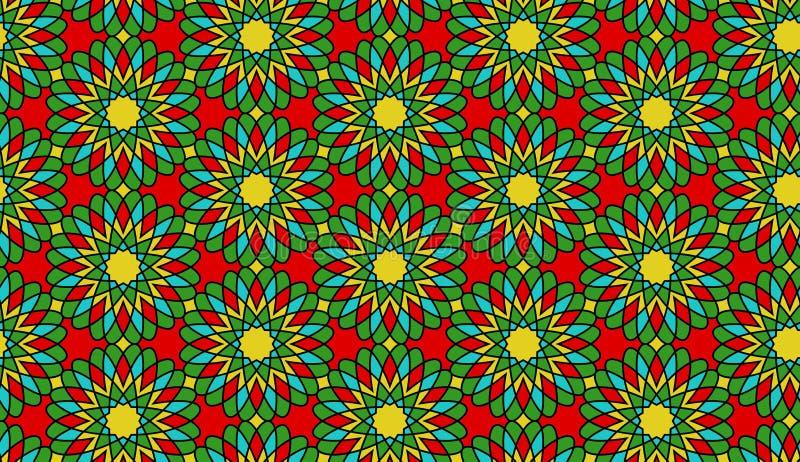 Bezszwowy mozaika kwiatu wektoru wzór, tło/ zdjęcie royalty free