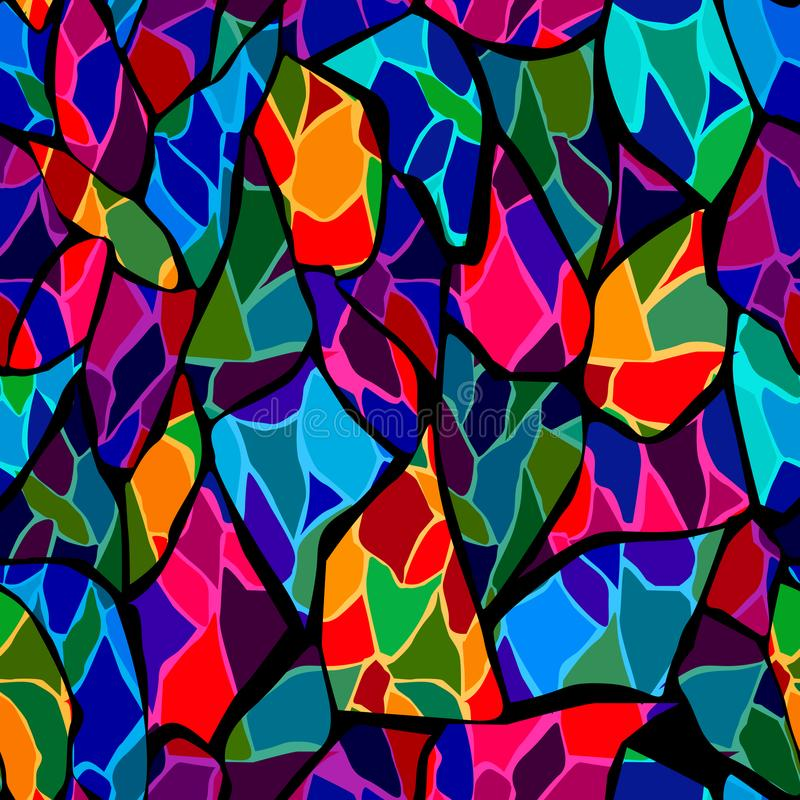 Bezszwowy mozaiki szkła płytki łamający wzór royalty ilustracja