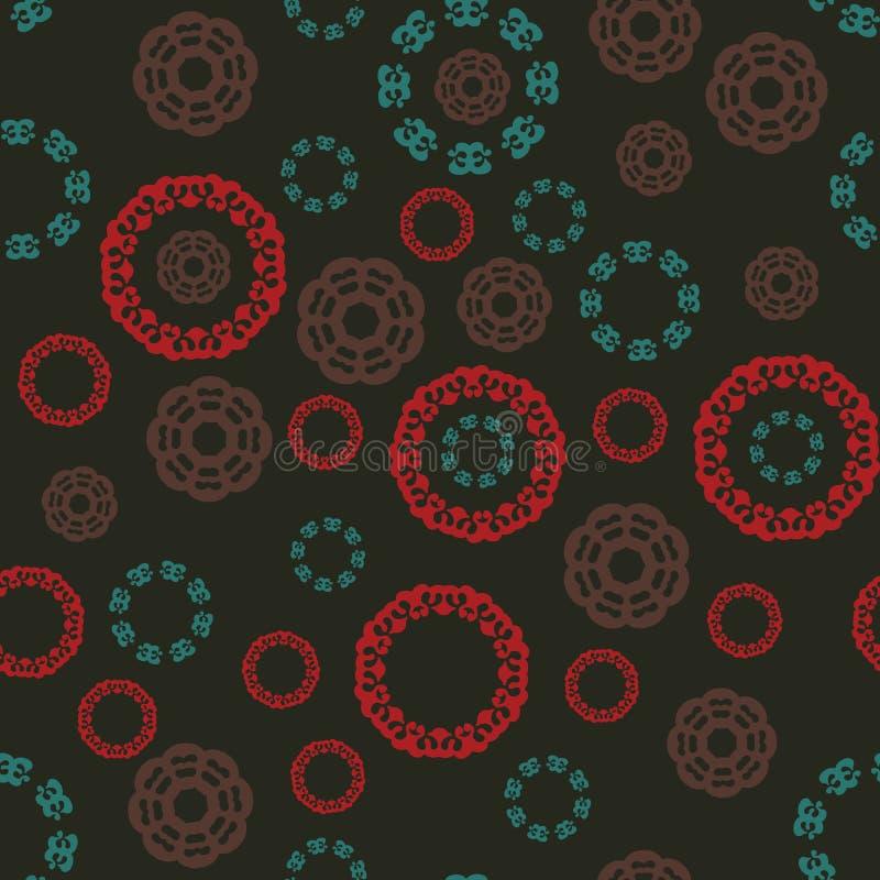 Bezszwowy multicolor wzór z tibetian mandalas Islamscy, Arabscy, Perscy motywy, Kalejdoskopów elementy tkanina royalty ilustracja