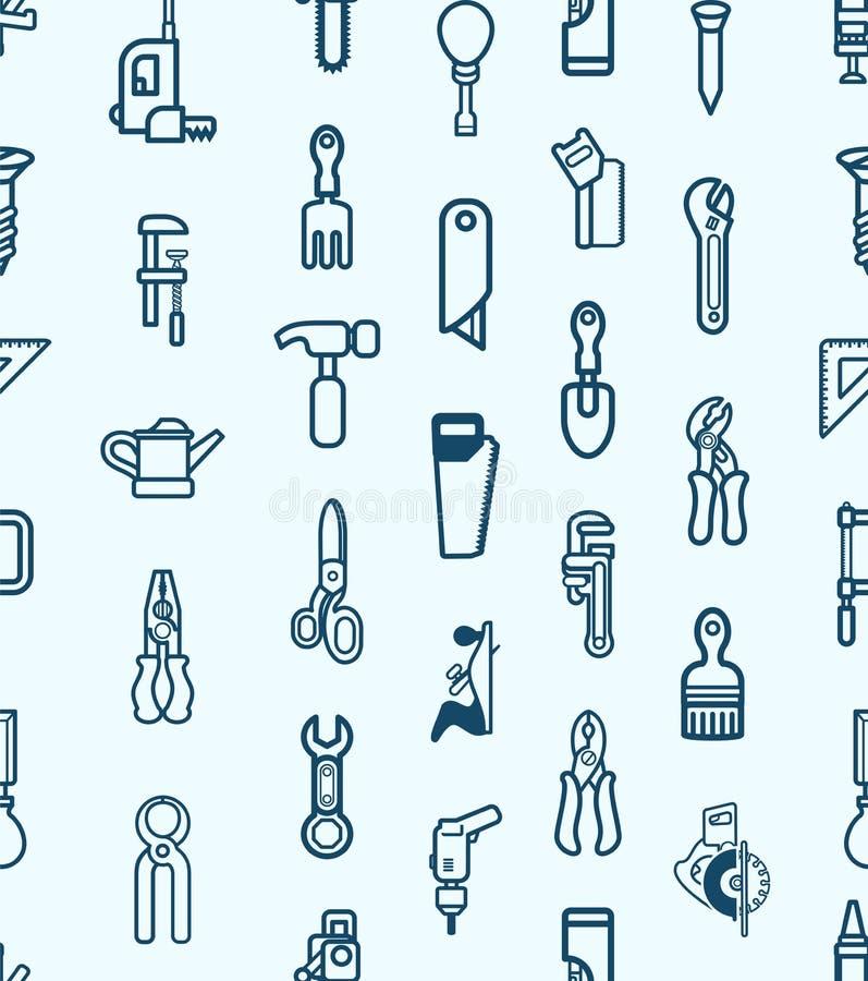 Bezszwowy narzędziowy ikony tło ilustracji