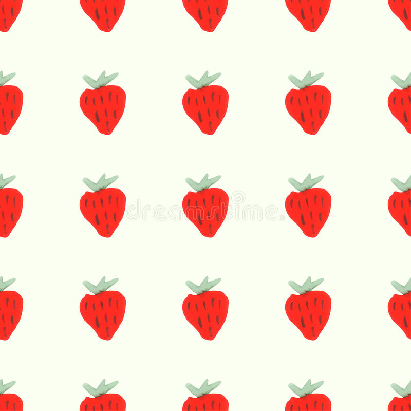 Bezszwowy naturalny koloru wzór czerwony dojrzały royalty ilustracja