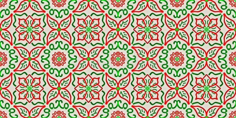Bezszwowy niekończący się wielostrzałowy jaskrawy ornament barwiący geometryczni kształty ilustracja wektor