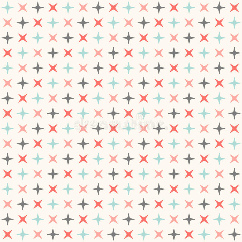 Bezszwowy nowożytny geometryczny polki rhombus wzór ilustracji