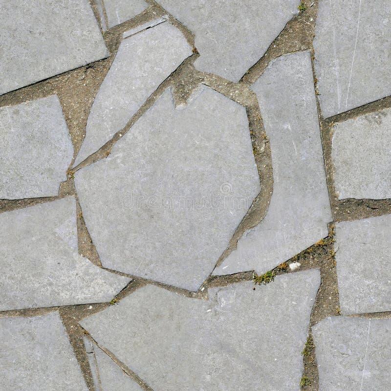 Bezszwowy obrazek terras flizy, granitowy brukowy kamień zdjęcie stock