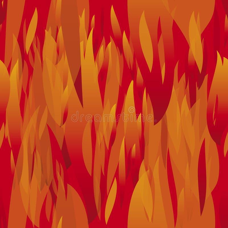Bezszwowy ogień ilustracji