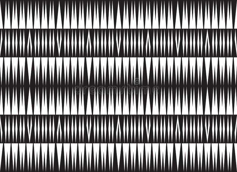 Bezszwowy okulistyczny sztuka wzoru tła wektor czarny i biały ilustracji