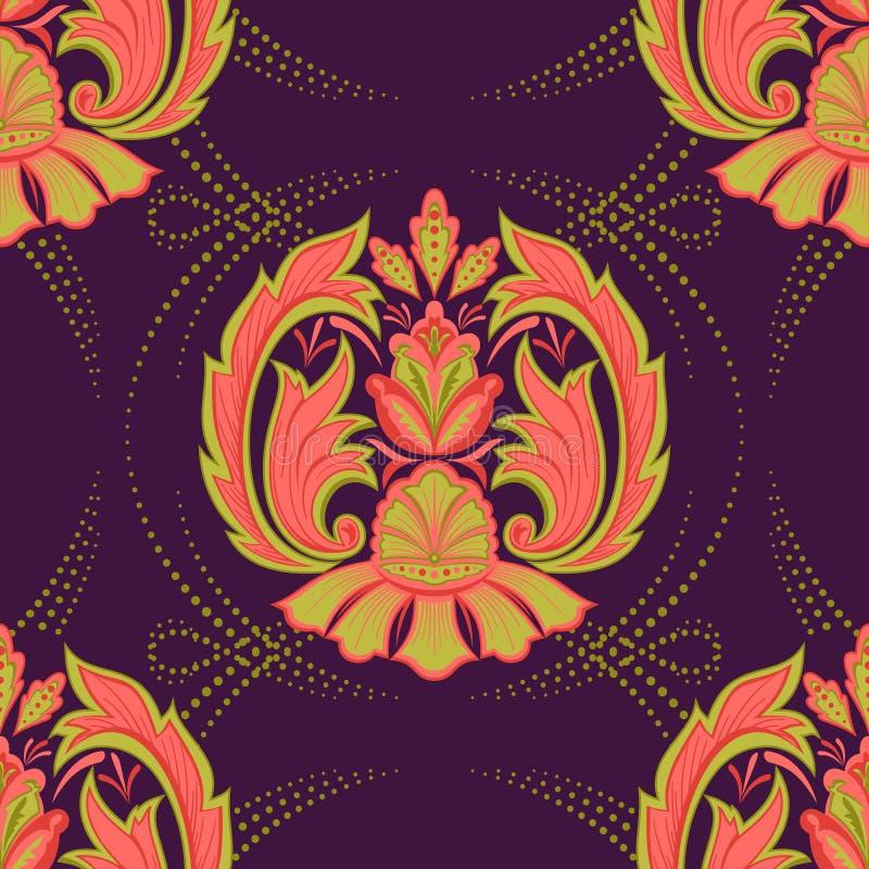 Bezszwowy orientalny wallpaper2 ilustracji