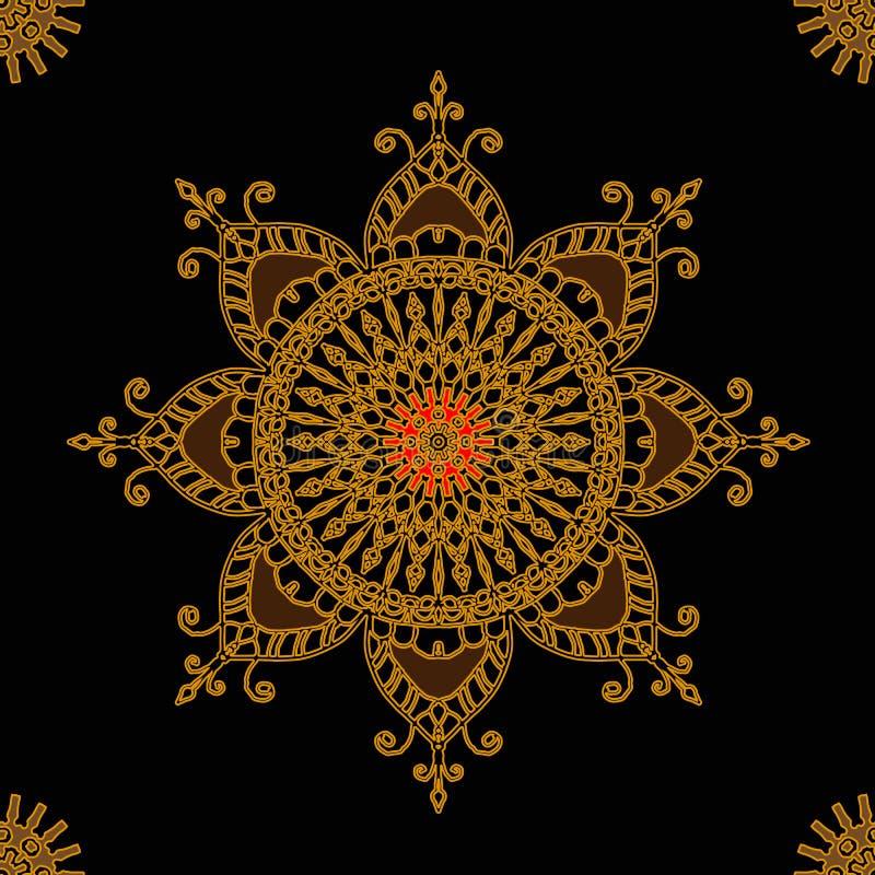 Bezszwowy ornament round z mandalas Geometryczny okręgu element robić w wektorze ilustracji