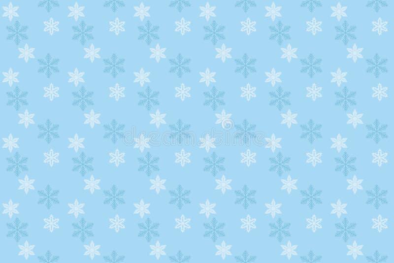 Bezszwowy płatka śniegu tło ilustracji