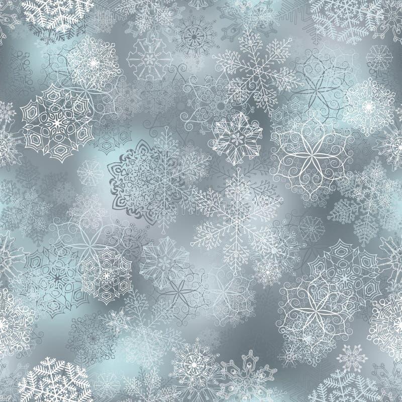 Bezszwowy płatka śniegu wzór ilustracja wektor