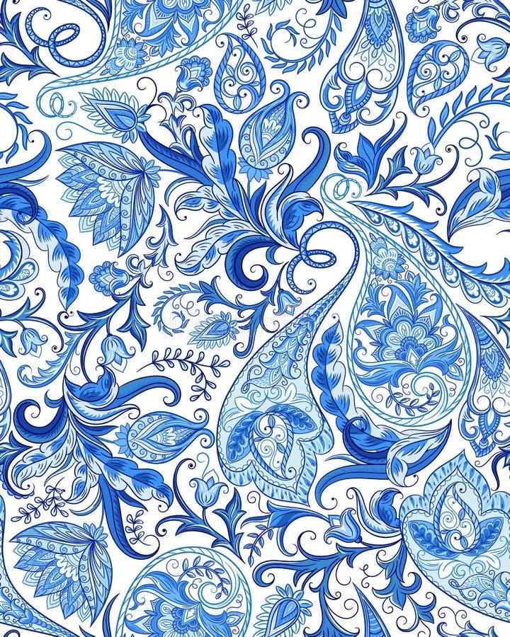 bezszwowy paisley wzoru ilustracja wektor
