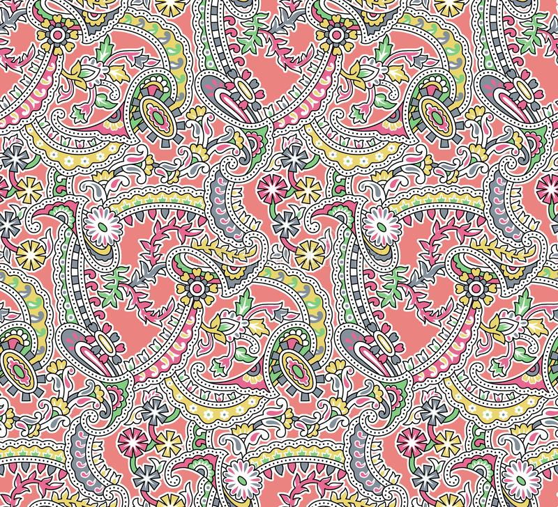 bezszwowy paisley wzoru royalty ilustracja